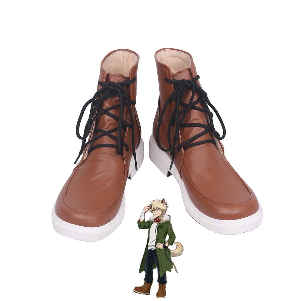 My Hero Academia Bakugou Katsuki Cosplay Shoes Men Boots