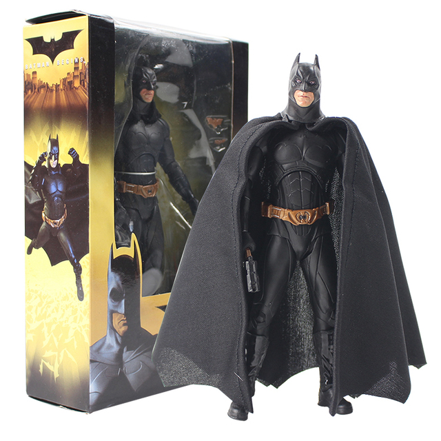 Neca 18 Super Herói Batman Begins Bruce Wayne Móvel Superman Bat Homem De Ação Do Pvc Figura Coleção Modelo boneca de brinquedo