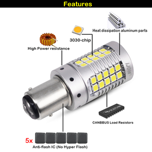 Image 3 - iJDM Canbus 1157 LED No Hyper Flash 21W Amber yellow P21/5W BAY15d LED Bulbs For Turn Signal Lights DRL Brake/Tail Lig Parking