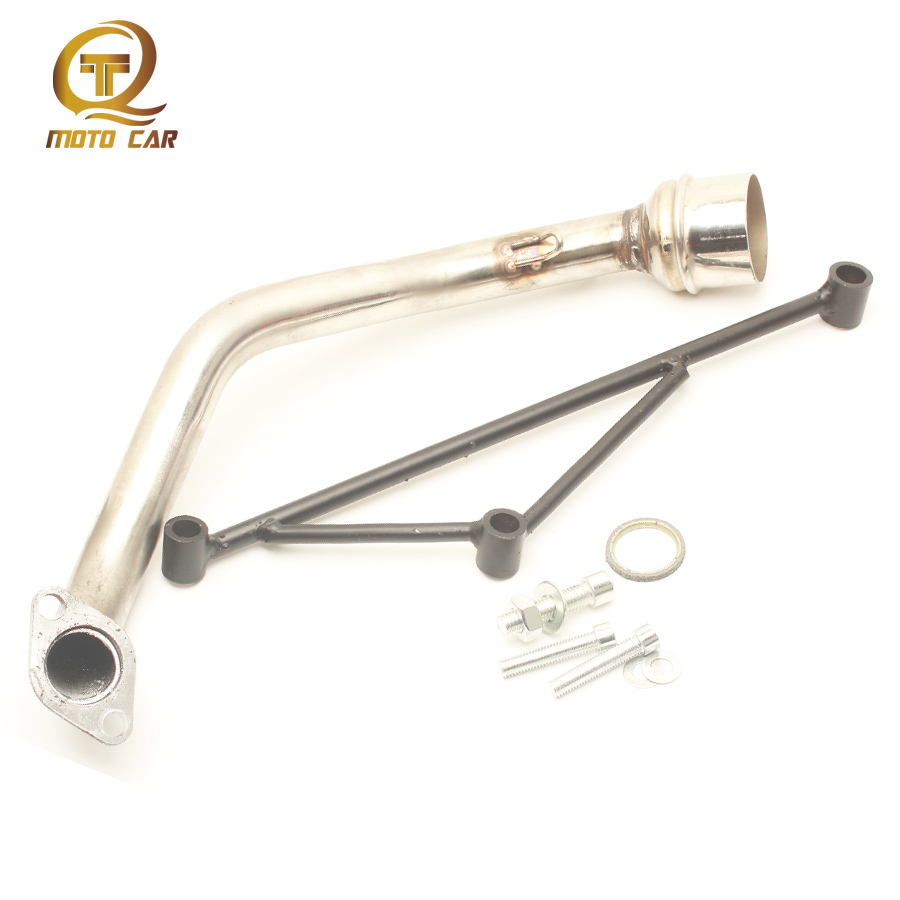 Motorcycle Racing <font><b>Exhaust</b></font> Muffler Fixed Mounting Bracke Scooter <font><b>Exhaust</b></font> Pipe for Gy6 125cc <font><b>150CC</b></font> 110 Escape Full <font><b>Exhaust</b></font> <font><b>Systems</b></font> image