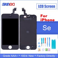 AAA+++Quality Display For iPhone SE LCD touch Screen Module Digitizer Assembly LCD Apple S E Replacement Screen No Dead Pixel 20pcs lot no dead pixel aaa quality for apple iphone 5s lcd touch screen display replacement digitizer 4 0 inches white black