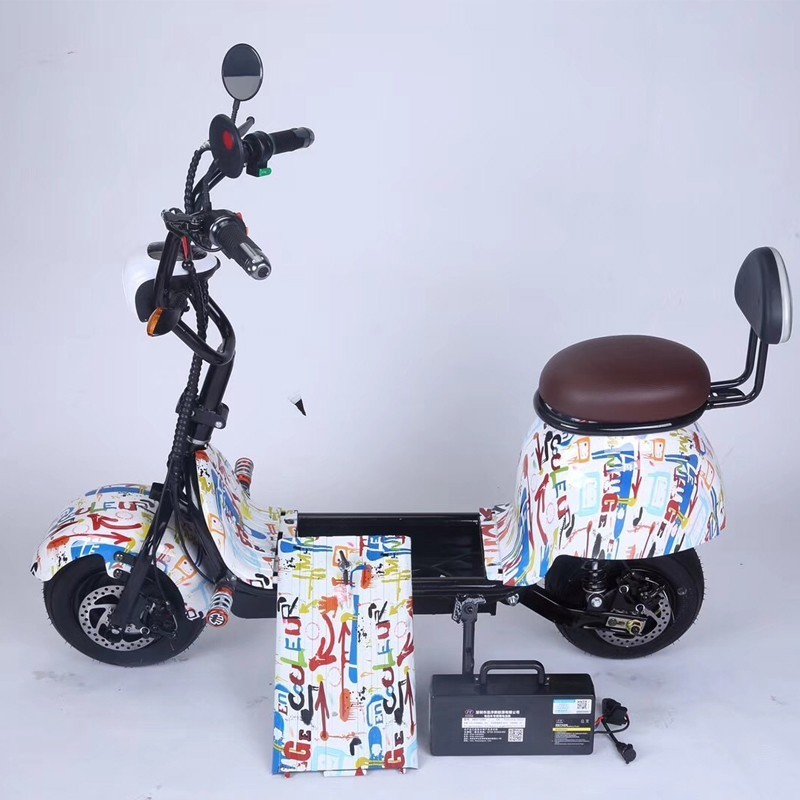 Small Harley electric scooter for men and women-type mini-<font><b>driver</b></font> driving car battery adult lithium pedal image