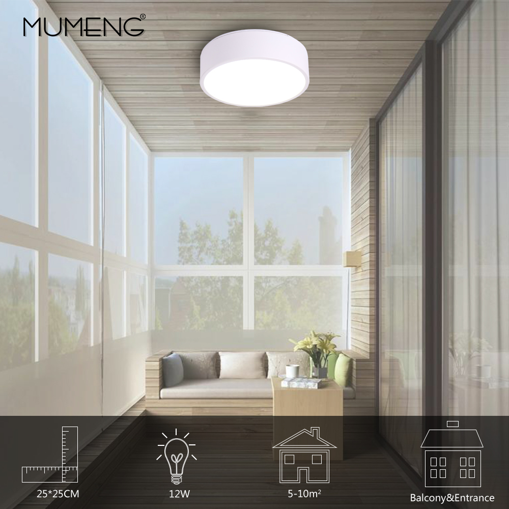 LED pure white simple ceiling lamp for Bedroom balcony & hotel ceiling lamp for 5 10square meters modern house lighting fixture Ceiling Lights     - title=
