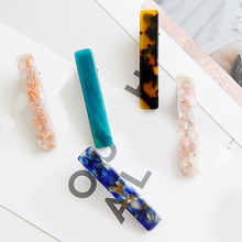 1PC New Fashion Women Japanese Acetate Long Colorful Barrettes Hair Clips Headbands Lady Metal Hairpins Acrylic Accessories