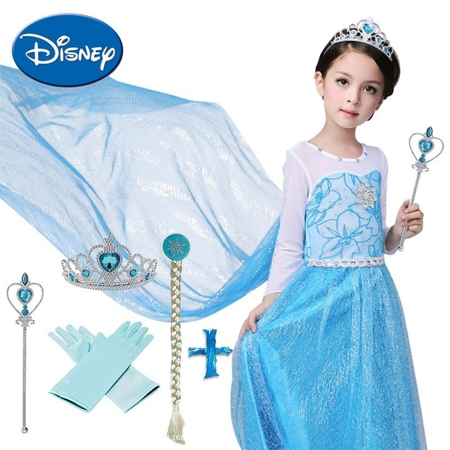 b4b9b180b0 Disney Princess Dress Set Frozen Anna Elsa Dress Cosplay Costumes Kids Girls  Party Christmas Festival Clothing Set