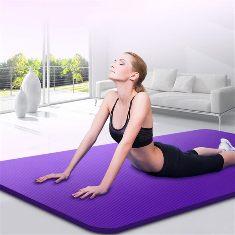 15mm Yoga Mat NBR Thickness Yoga Mats Non slip Tasteless Fitness Pilates Mat Home Exercises Gym