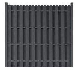 VidaXL panel de valla de madera plástica cuadrado gris madera plástico compuesto clásico jardín barrera residencial suministros de jardín