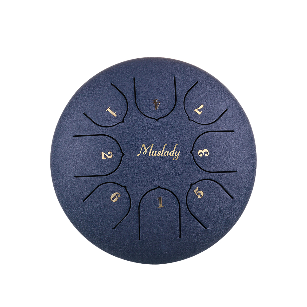 Muslady 6 Inch Mini Steel Tongue Drum C Key 8 Tones Percussion Instrument Hand Pan Drum