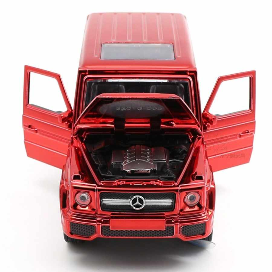 1:32 Scale 16CM Diecast Mercedes G65 AMG Car Model Alloy Toy SUV Auto Electroplated Red Vehicles Metal Car Toys For Child Gifts