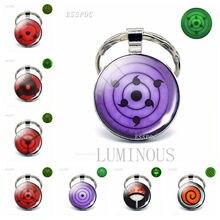 Rinnegan Eyes Naruto Luminous Key Ring Sharingan Eye Key Chain Uchiha Uzumaki Clan Logo Anime Pendant Cosplay Lover Gift