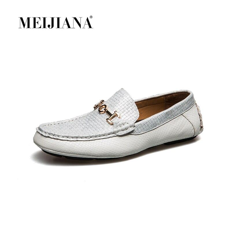 Hombres Zapatos Y Barco Negro De Casuales Meijiana Verano Los Conductor Negro Mocasines blanco Blanco qXx5wn1v