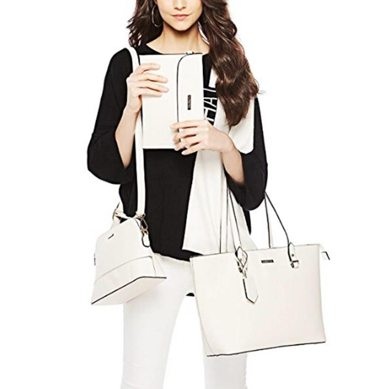 b310da8a0 4 قطعة المرأة مجموعة الحقائب الإناث حقيبة الجراب الجلدية حقيبة كتف رسول  Crossbody أكياس للسيدات بو