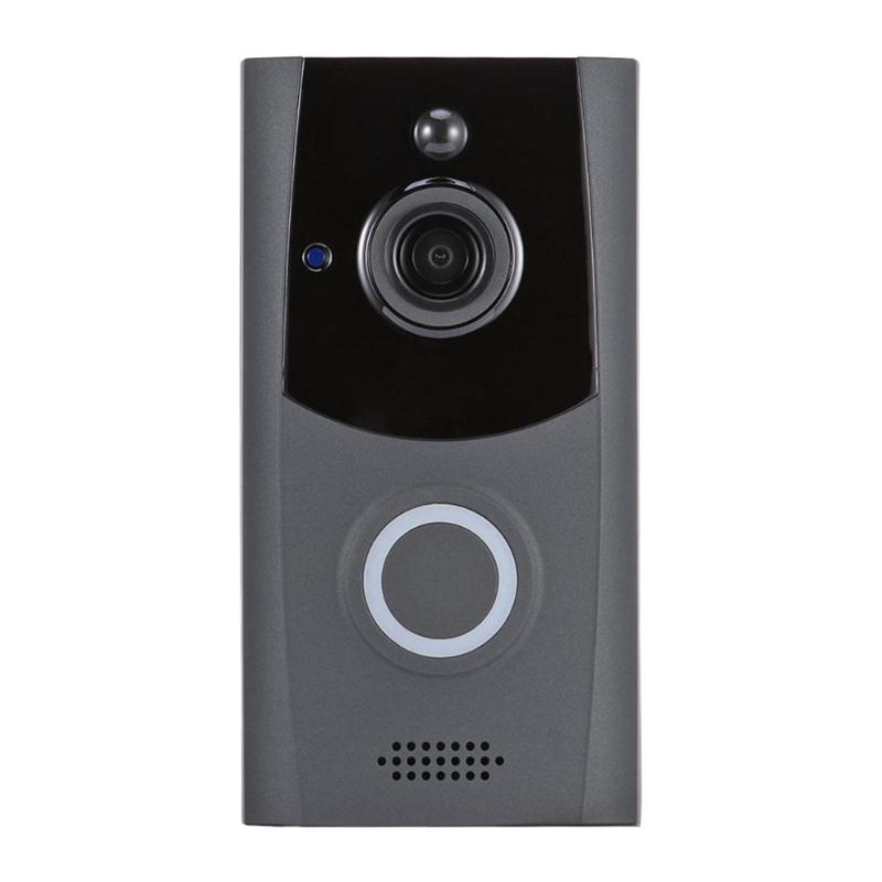 Smart Wireless WiFi Security Doorbell Visual Intercom 720p Camera Remote Home Monitoring Night Vision Video Door Phone GreySmart Wireless WiFi Security Doorbell Visual Intercom 720p Camera Remote Home Monitoring Night Vision Video Door Phone Grey