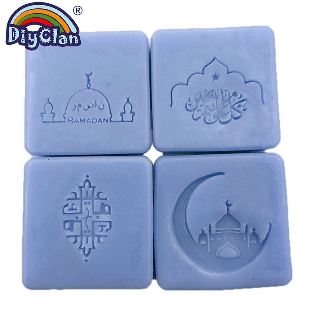 Ислам Рамадан мыльный штамп Diy Ручная работа мусульманское  арабское здание прозрачный мыльный штамп для Рамазана креативный подарок  изготовлениеШтампики