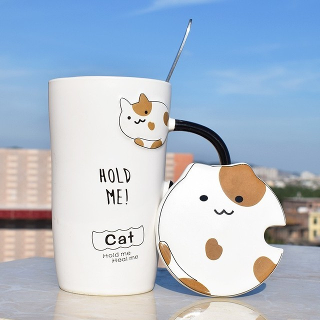 Kawaii Ceramic Cat Cup – Limited Edition