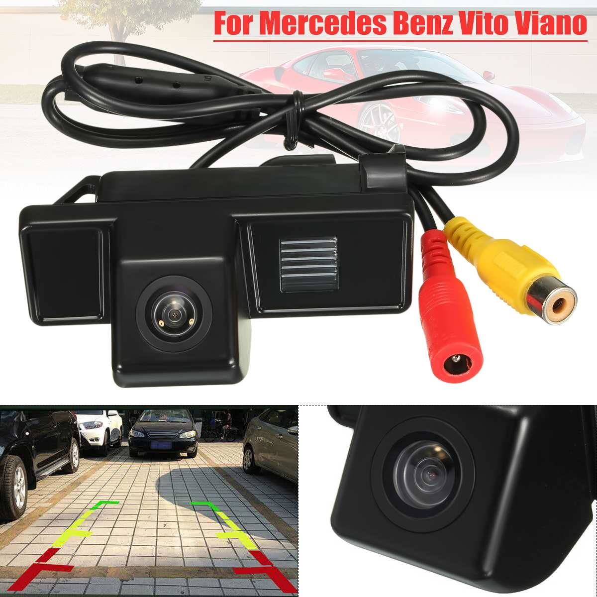 170 Degree CCD Reverse Reversing Camera For Mercedes for Benz Vito Viano 2004 Car Rear View Camera Back up Reversing Camera