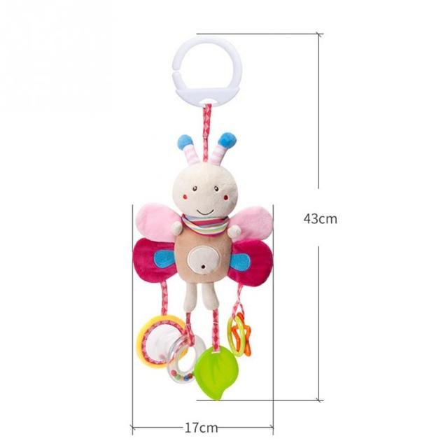 Cartoon Baby Toys 0-12 months Bed Stroller baby mobile Hanging Rattles Newborn Plush infant toys for Baby Boys Girls