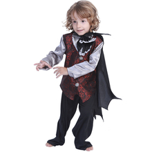 Vampire Costume Kids Cosplay Halloween For Boys Girls Carnival Performance Party Clothes