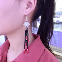Earing Earings Aretes Brinco Offer Limited Eas Tassel Ears Zhou Yu Xuan Hetian Pendant Chinese Knot Stupa With Noble Fashion