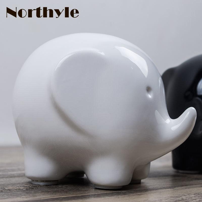 Kreatywna słoń figurka kawaii ceramiczne Rzemiosło do dekoracji - Wystrój domu - Zdjęcie 3