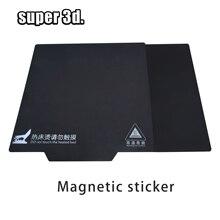 3D-принтеры Запчасти Магнитный печати лента 200/214/235/310 мм квадратный радиатор Стикеры очаг алюминиевая плита горячего отжига поверхности ленты кабель пластина
