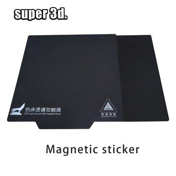 Części drukarki 3D podstawa magnetyczna łóżko z nadrukiem taśma 200 214 235 310mm kwadratowa naklejka grzewcza gorące łóżko płyta do zabudowy powierzchnia Flex plate tanie i dobre opinie IdeaFormer Papier ciepła 150*150 200*200 214*214 220*220 235*235 310*310 Heated bed Sticker Black 3D Printer Parts