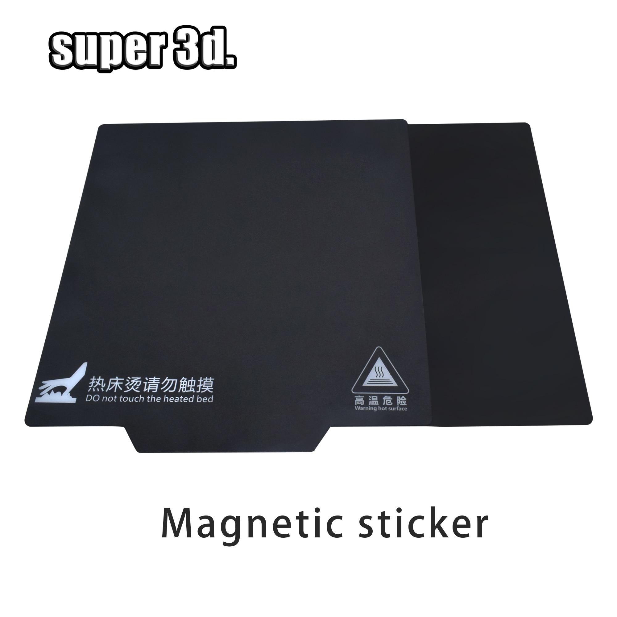 Piezas de impresora 3D, cinta de cama de impresión de base magnética 200/214/235/310mm, pegatina de cama térmica cuadrada, placa de construcción de cama caliente, placa flexible de superficie