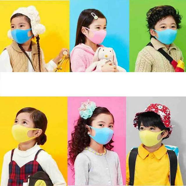 3PCS Kids Mouth Mask PM2.5 Dustproof Washable Mouth Cover Mask Face Mouth Mask 2