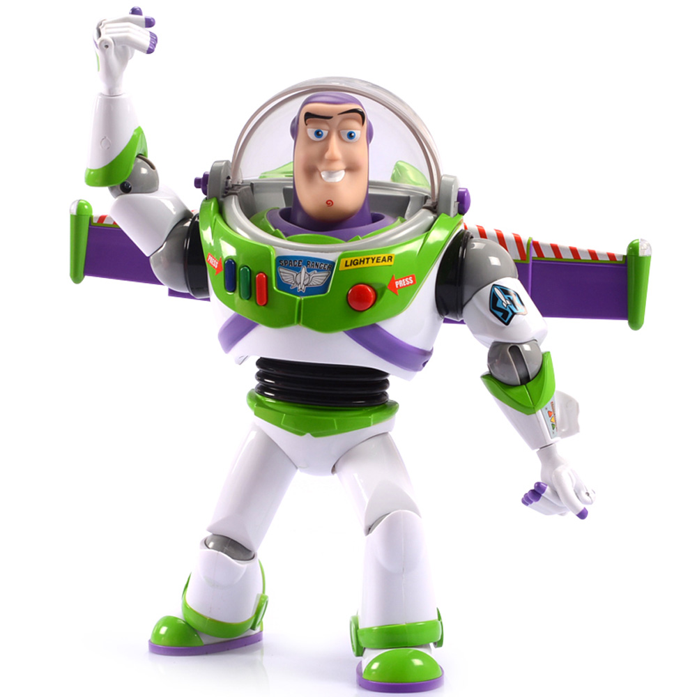 Buzz Lightyear Figure Toy Story 5 Anime Lights Voices Speak English Joint Movable With Wings Action Figures Toy Children Gift