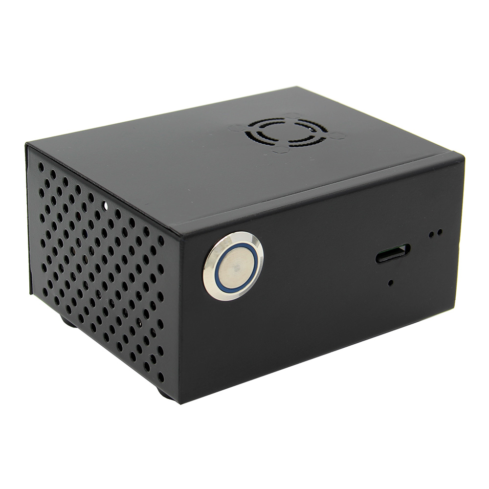 Para Raspberry Pi X820 V3.0 SSD y HDD SATA de almacenamiento Junta juego de Metal/carcasa + potencia interruptor de Control + ventilador de refrigeración Kit