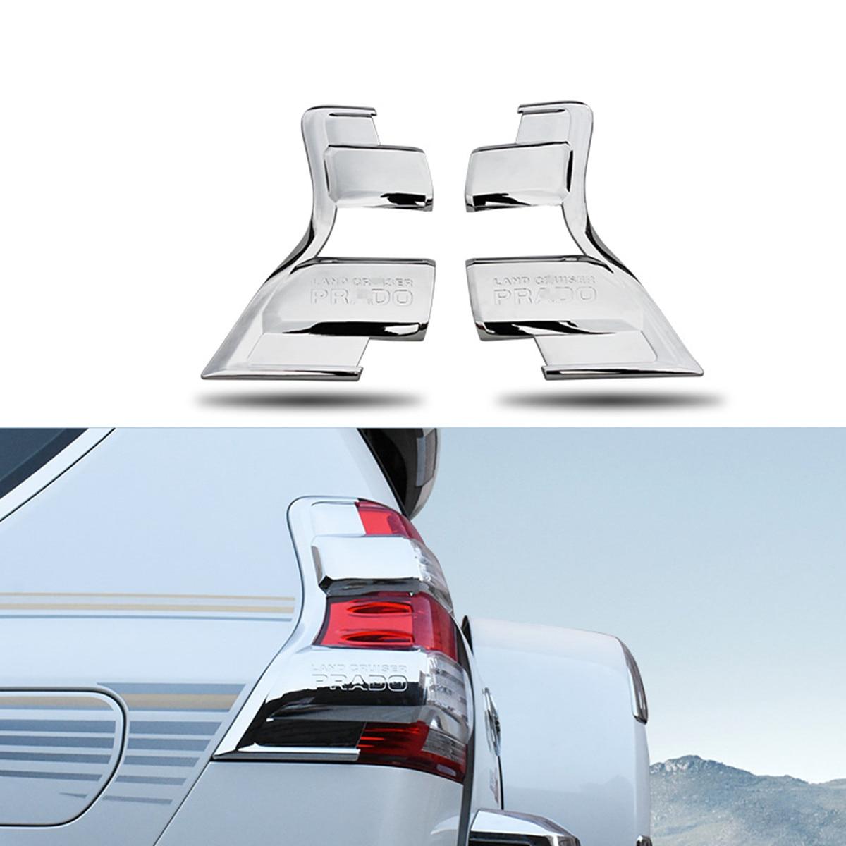ABS Chrome Rear Taillight Trim Cover for Toyota Land Cruiser Prado 150 2014 2015 2016 2017