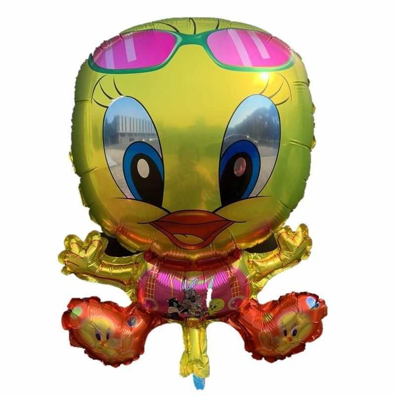 1 pc Pato Verde Handheld StrikerFoil Balão Fontes do Partido de Aniversário Dos Desenhos Animados Figura Sereia PartyRefueling Vara Mão