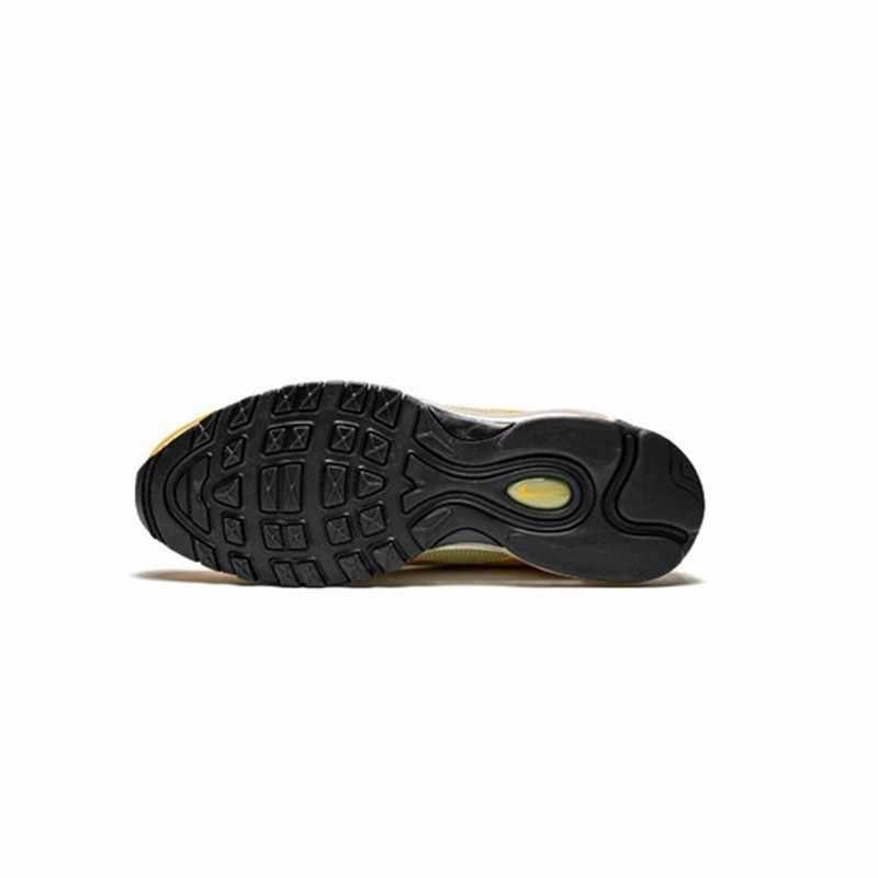 """Nike W Air Max 97 """"горчичный"""" Новое поступление оригинальная полная ладонь воздушная подушка желтая спортивная обувь для мужчин легкие кроссовки #921733-701"""