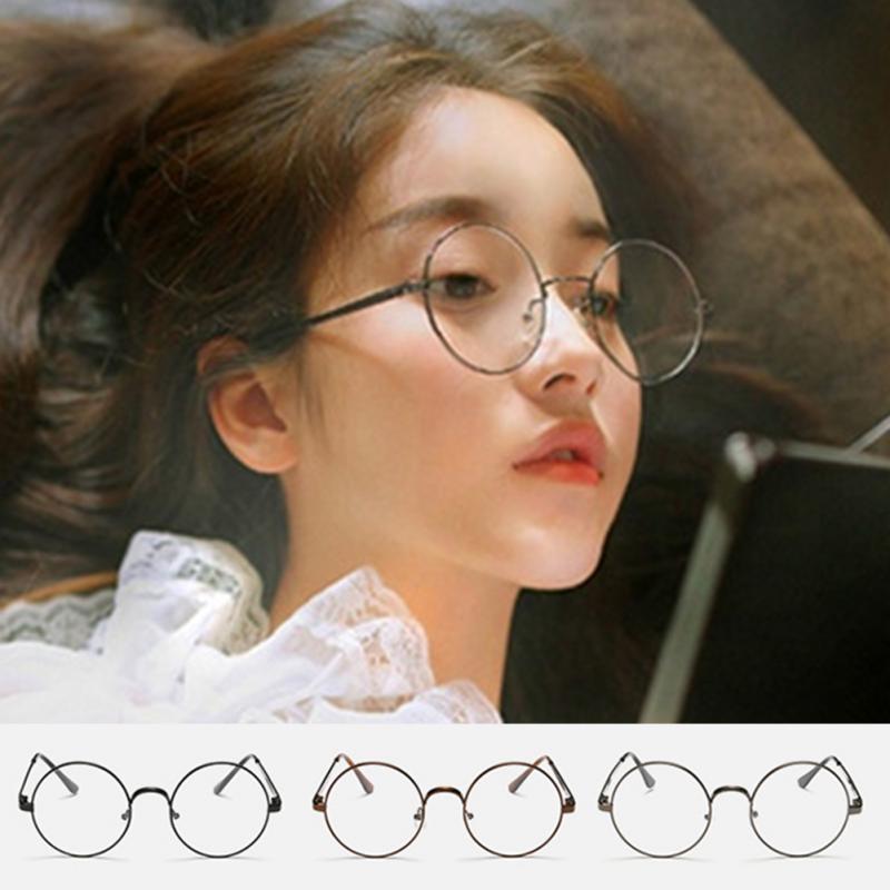 Women Men Korean Round Glasses Fashion Unisex Eyeglass Optic Frame Eyewear Vintage Spectacles Glasses