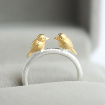 REETI 925 Sterling Silver Rings For Women Bird Open ring Style Lady Prevent Allergy Sterling silver jewelry in Rings from Jewelry Accessories
