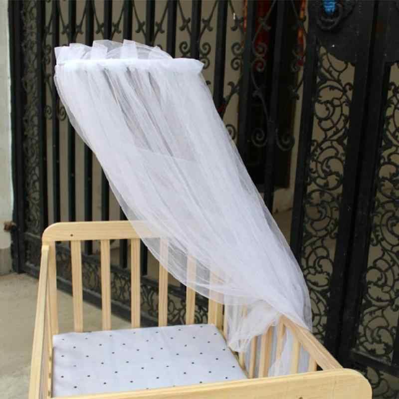 Дети балдахин висят Круглый купол москитная сетка Твердые висячая сетка для детских ходунков кроватки кровать пол тип насекомые сетка