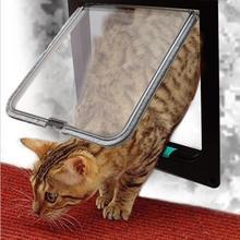 3 размера 4 способа Pet Cat Запираемая дверь для ворот настенного крепления замок Безопасный жесткий пластик створки двери продукты Уход за щенком аксессуары поставки двери собаки