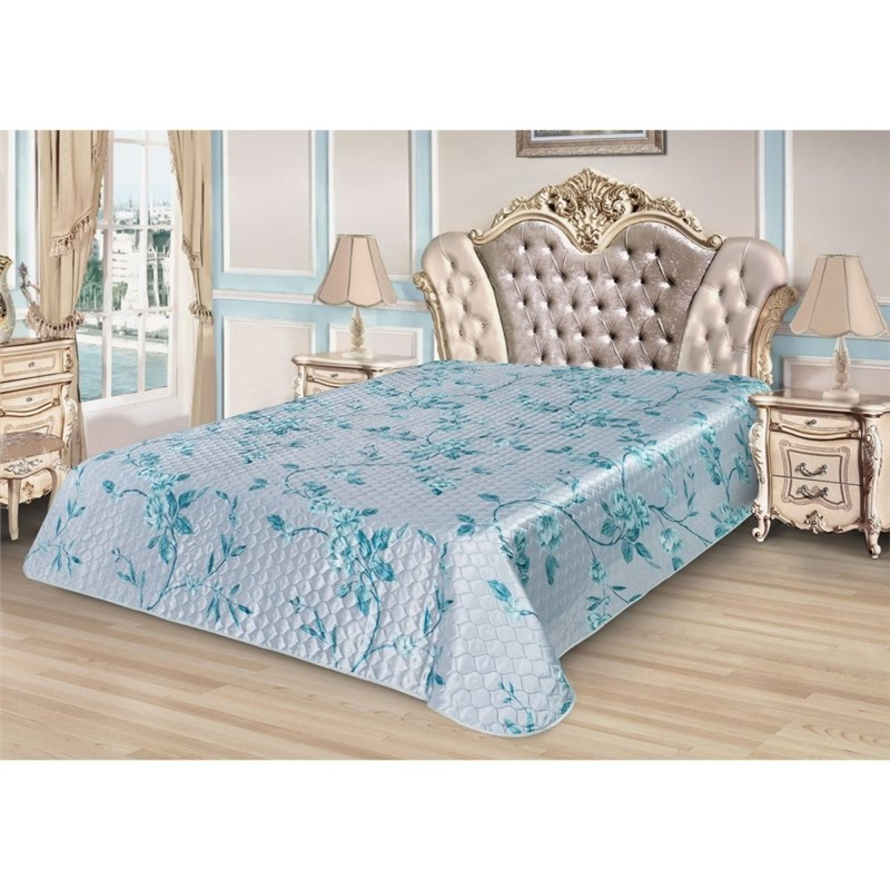 Bedspread Ethel Silk Freshness, size 200*220 cm, faux Silk 100% N/E flounce sleeve faux pearl beading lace top