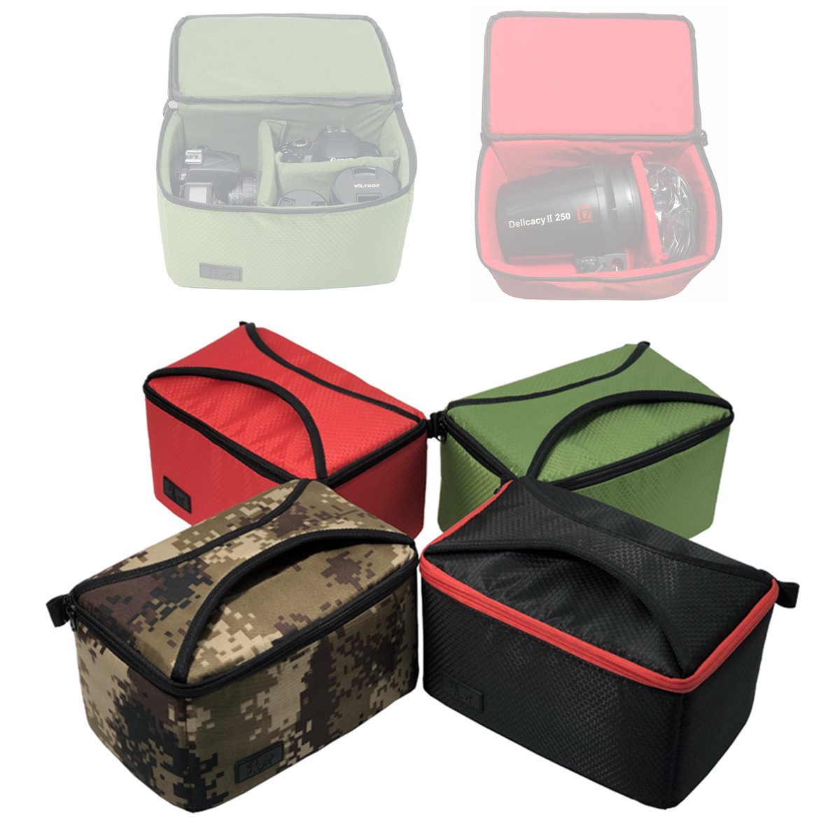Studio Flash Bag Case for <font><b>Godox</b></font> Mini Pioneer 120 160 200 250DI 300DI K150A <font><b>E300</b></font> E250 AD200 Nice Photo GE250 GY180 Jinbei DII 250 image