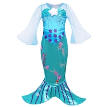 AmzBarley Girls Dress Little Mermaid Princess Ariel Costume Seahorse Cosplay outfits Toddler Halloween Birthday Party clothes