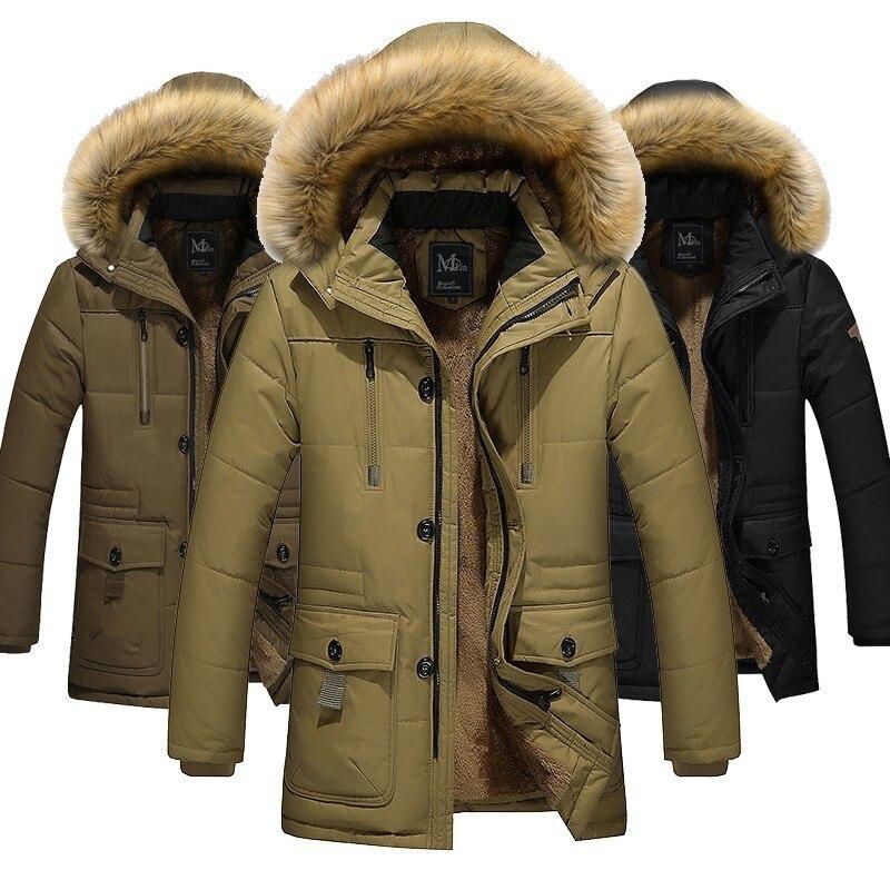 Zollrfea Dropshipping nueva Parka hombres ropa masculina sólida algodón acolchado chaqueta de invierno a prueba de viento abrigos gruesos hombres ropa de abrigo CA00114