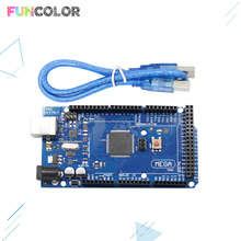 цена на Mega2560 REV3 Board Part  Mega 2560 R3 ATmega2560-16AU with USB Cable for Compatible 3D Printers Parts Integrated Circuit