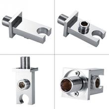 Handheld shower head Holder Bracket Wall Outlet Elbow Wall Mounted Shower Head Support For Hose Brass Head Bracket WallConnector luxury led color changing shower head wall hanger handheld shower arm holder chrome 59 stainless steel shower hose with bracket