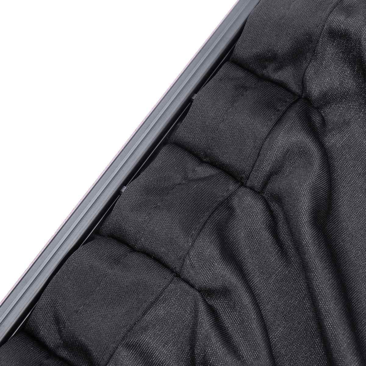 2 pçs cortina de janela lateral do carro escudo da janela do carro malha deslizante cortina de carro anti calor sol protetor uv capa cortinas coche pára-sol