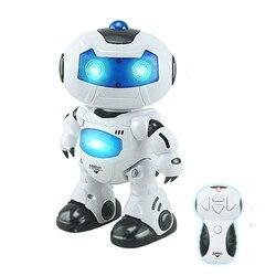 Leory robô elétrico inteligente controle remoto rc dança robô melhor presente para crianças novo fácil de usar