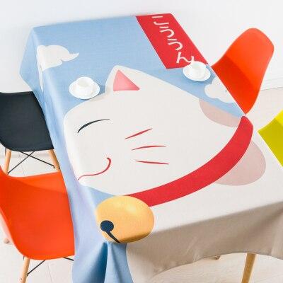 Style japonais chanceux chat nappe linge nappes couverture serviette épaisse rectangulaire antependium salle à manger décoration de la maison