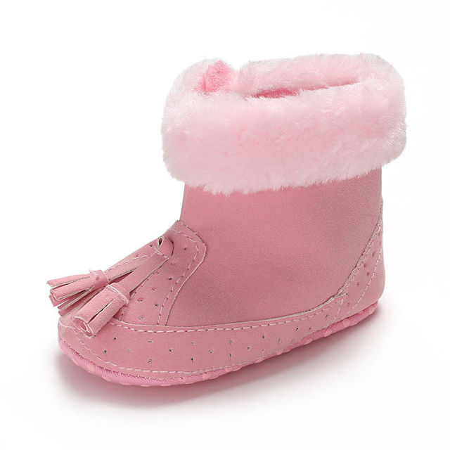 2019 0-12M Tassel warm Baby Girl Boy boots Snow Boots Winter Warm Booties Infant Toddler Newborn Crib Shoes Fashion Style 1