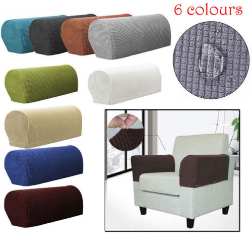 1 Pair Removable Arm Stretch Sofa Couch Chair Protector ...