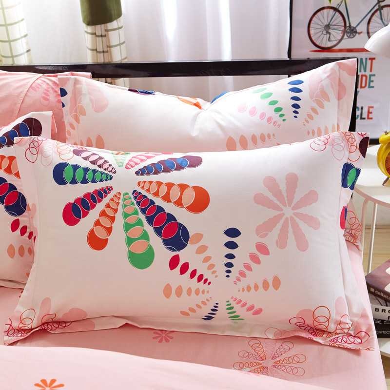 1 Piece 480*740mm 7 Colors Floral Pillow Case Cover 100% Polyester Plain Knitted Pillowcase For Kids Adults 55