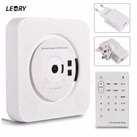 LEORY bluetooth 4.2 CD Player FM Radio USB AUX MP3 Remote Control LED Display Sleep Timer Portable Wall Mountable